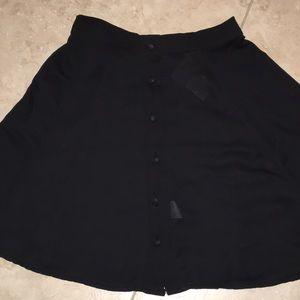 Brandy Melville black chiffon A-line skirt